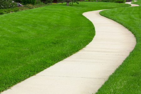 Pathway door groene gazon