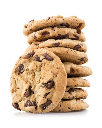 Biscuits aux brisures de chocolat isolé sur fond blanc. Banque d'images - 41924263