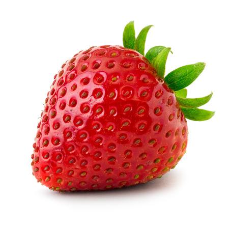 Erdbeere isoliert auf weißem Hintergrund