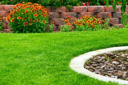 flower garden path: Garden