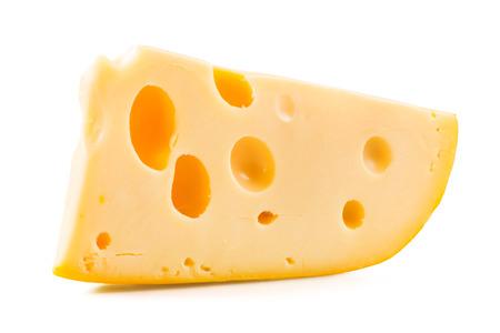 Käse auf weißem Hintergrund Lizenzfreie Bilder