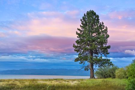 pope: Sunset over Lake Tahoe Pope Beach