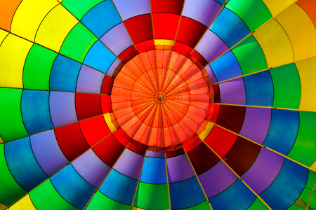 balloon background: Hot air balloon from inside