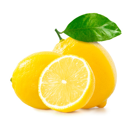 Lemon over white nackground