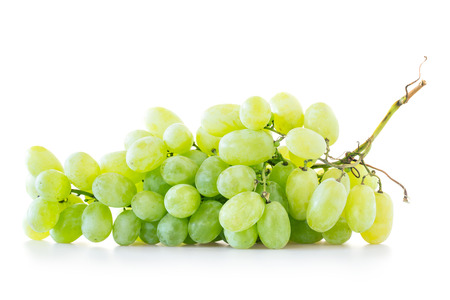 grapes in isolated: Green grapes isolated on white background