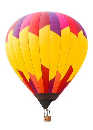 Heißluftballon isoliert auf weißem Hintergrund Lizenzfreie Bilder