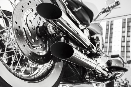 Motorcycle Standard-Bild