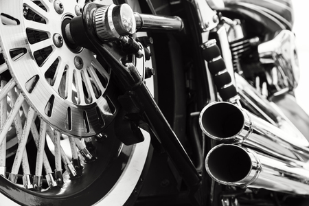 chrome: Motorcycle Stock Photo