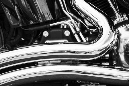 chrome man: Motorcycle Stock Photo