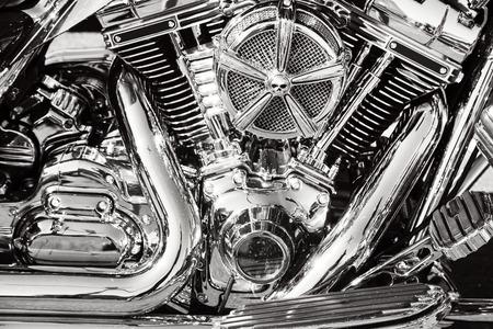 cromo: Motocicleta con piezas cromadas Foto de archivo
