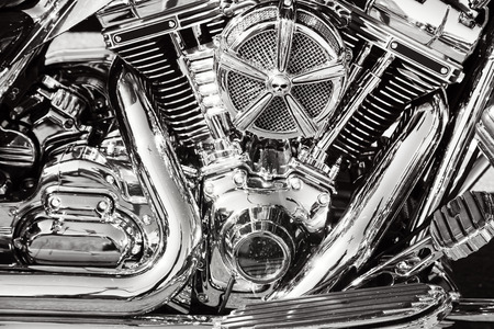 chrome: Motorcycle with chrome parts