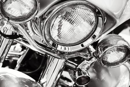 headlights: Motorcycle headlights Stock Photo