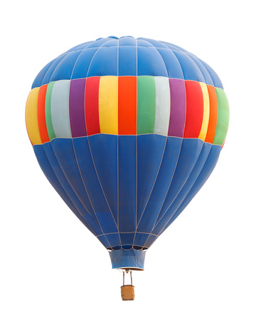 Photograph of hot air balloon against white background