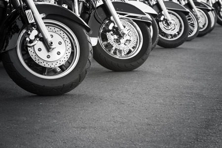 motorcycle wheel: Motorcycles in a row
