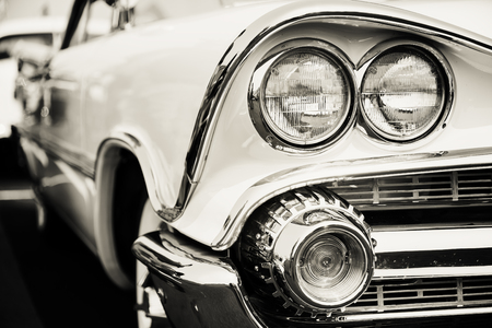 black car: Classic car headlights