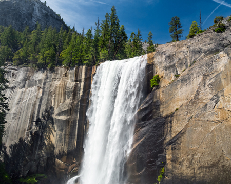 north cascade national park: Vernal Fall, Yosemite National Park Stock Photo