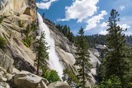 cascade mountains: Nevada Fall, Yosemite National Park