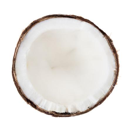 aceite de coco: Coco aislado sobre fondo blanco Foto de archivo