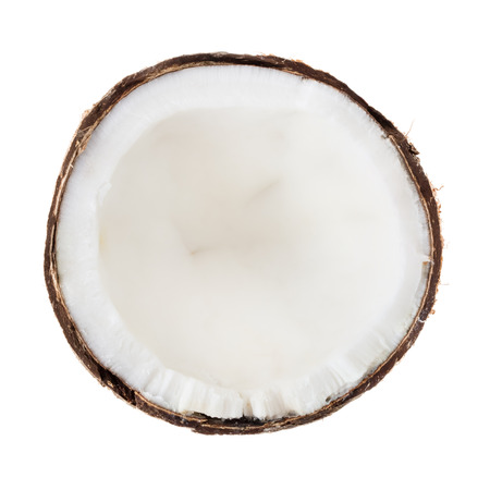 Kokosnoot op een witte achtergrond