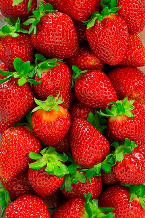 Strawberries background Banco de Imagens - 51335434