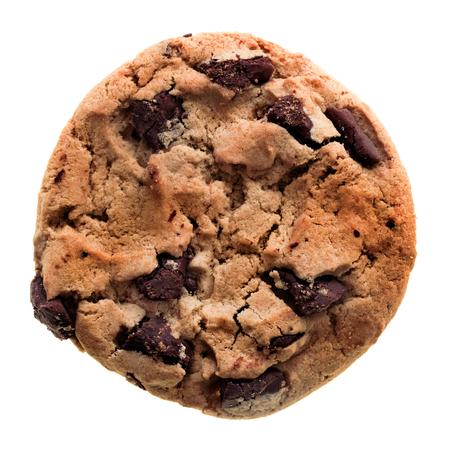Chocolate Chip Cookie isoliert auf weißem Hintergrund.