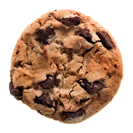 galleta de chocolate: galleta de chocolate aisladas sobre fondo blanco.