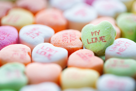 conversation: Heart shaped candies for Valentines Day