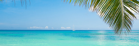 beach panorama: Tropical beach Stock Photo
