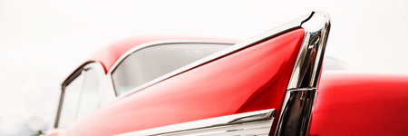 classic: Photograph of classic car with close-up on taillights