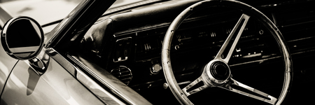 Classic car photographed from driver side