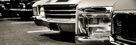 classic cars: Classic cars in a row Stock Photo