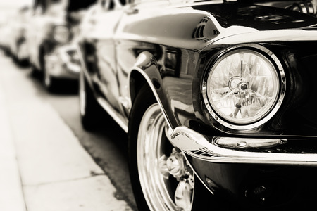 Classic cars in a row Stockfoto