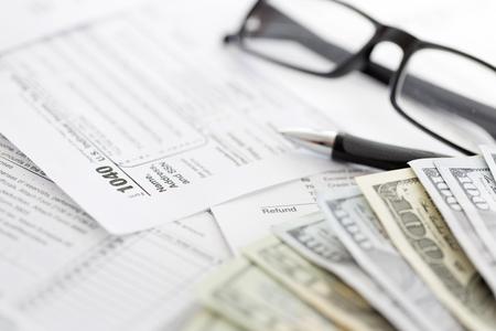belasting vormen Stockfoto