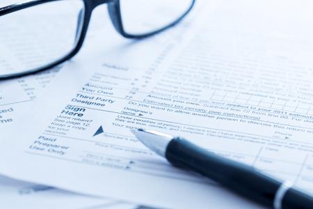 Formularios de impuesto Foto de archivo
