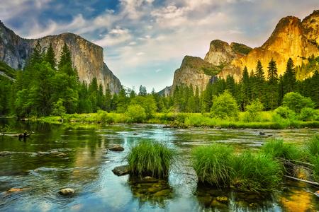 tunnel view: Yosemite National Park Stock Photo