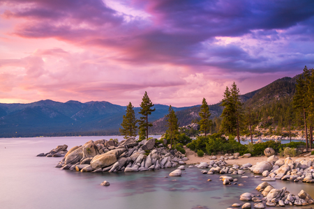 beach landscape: Lake Tahoe sunset