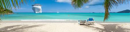 Cruise ship tropical beach