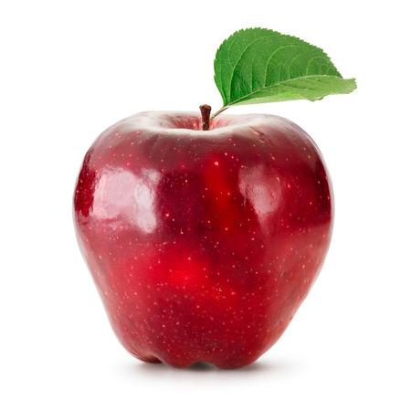 manzana roja: Red Apple aislados en blanco  Foto de archivo