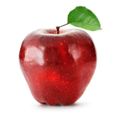 Red Apfel isoliert auf weiß