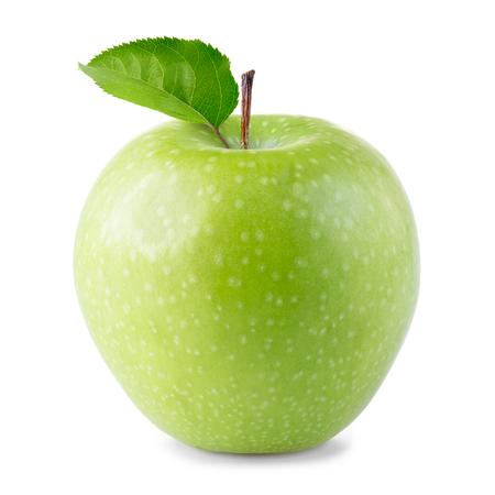 manzana verde: Green Apple aislados en blanco  Foto de archivo