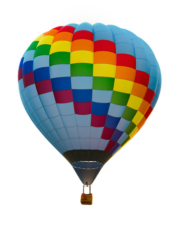 Hot air balloon isolated Banque d'images
