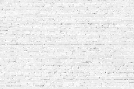White textured brick wall background