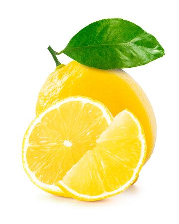 Citron isolé sur fond blanc Banque d'images