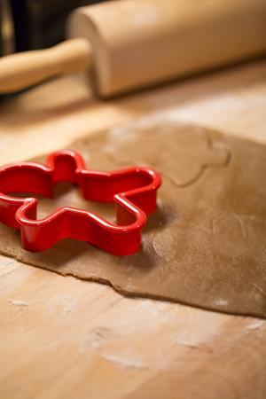 gingerbread cookies: Making Christmas gingerbread cookies