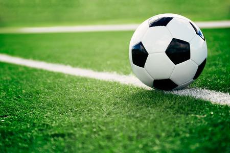 ballon de football sur un terrain de football