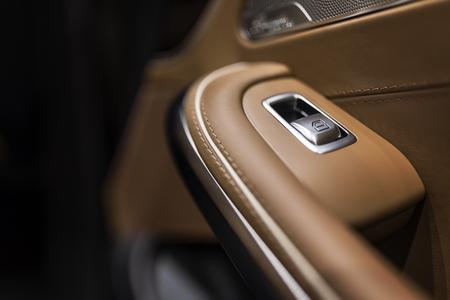 automobile door: Luxury car interior