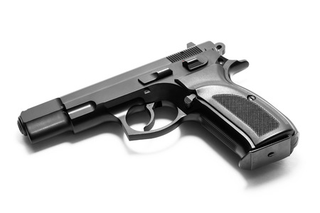 Handgun isolated on white background