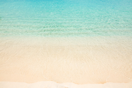 Calm tropical beach with turquoise water