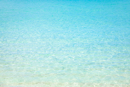 Tropical beach water background, Caribbean turquoise water