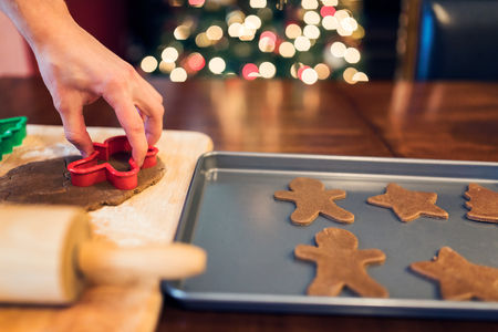 pastry cutters: Making Christmas gingerbread cookies